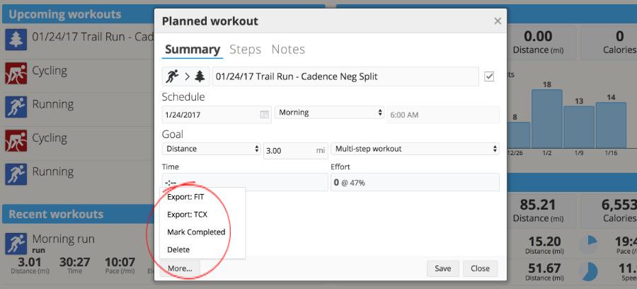 Garmin Connect Workouts