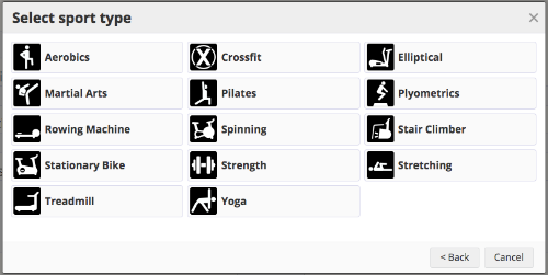 A Screenshot Of The Types Gym Workouts In Sporttracks