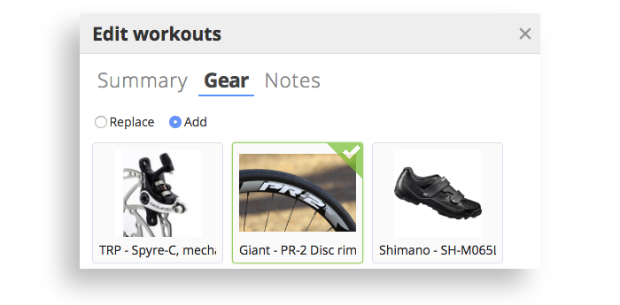 The edit window on the SportTracks Workouts page