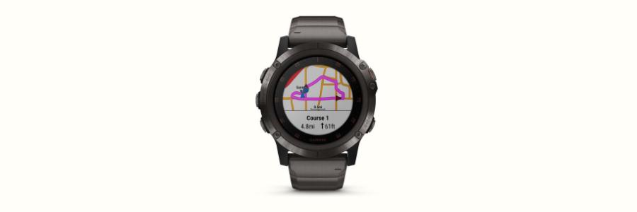 The Garmin Fenix 5 Plus sports watch