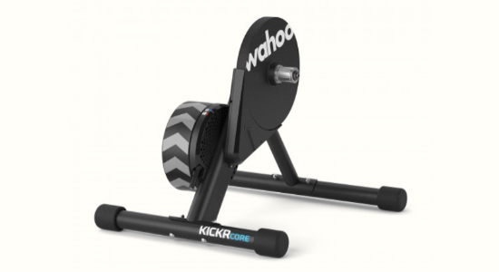 The Wahoo KICKR Core direct-drive smart bike trainer
