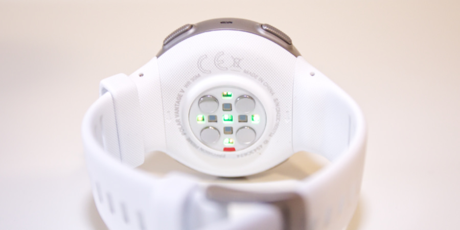 The Precision Prime optical heart-rate monitor on the Polar Vantage V sports watch