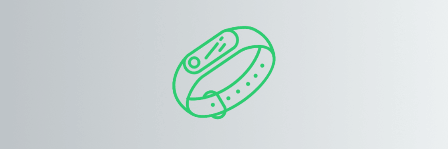 An illustration of a fitness tracker wearable gadget
