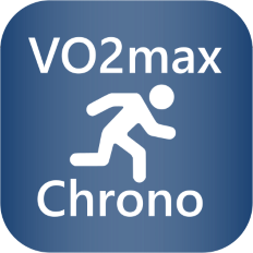 The logo of the VO2max Chrono Connect IQ app