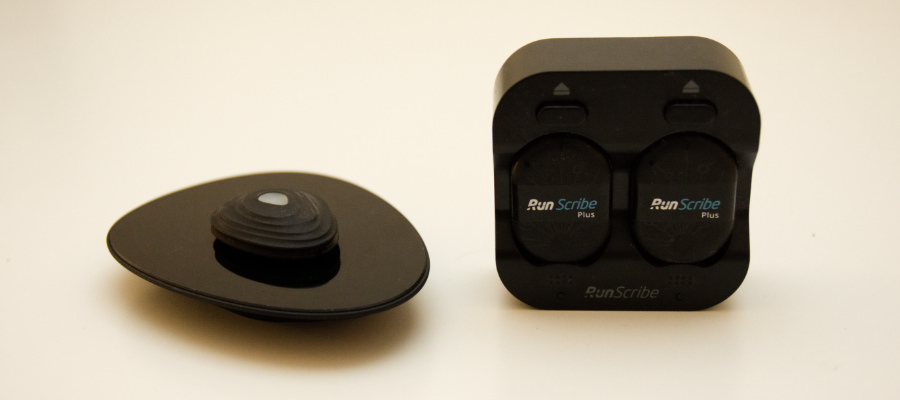The Stryd and RunScribe running power meters and their chargers