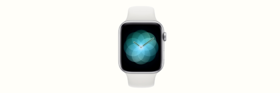 The Apple Watch Series 4 with the Breathe watch-face