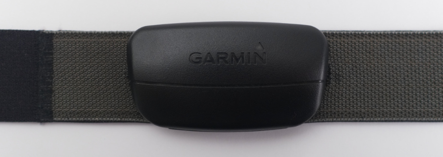 A Garmin soft-strap premium heart-rate monitor