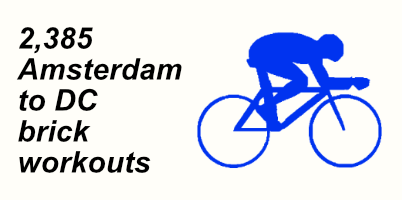 A graphic of a cyclist in an aero position
