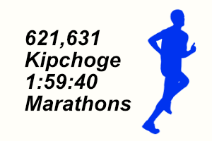 A graphic of a person running