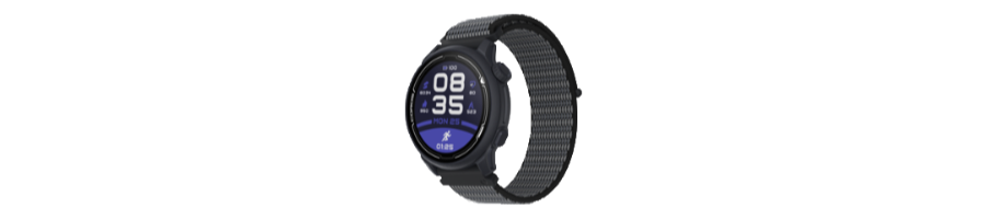 The COROS Pace 2 multisport GPS watch with a Dark Navy nylon band