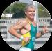 A circular photograph of endurance sports Coach Mike Lennon